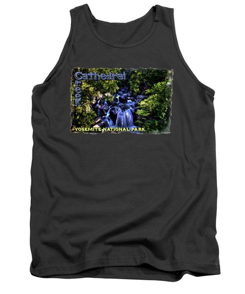 Cathedral Creek Cascade On The Tioga Pass Tank Top by Roger Passman