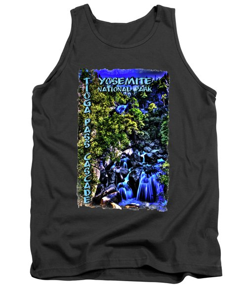 Cathedral Creek Cascade On Tioga Pass Road Tank Top