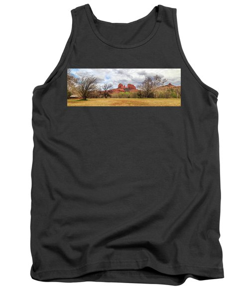 Tank Top featuring the photograph Cathedral Rock Panorama by James Eddy