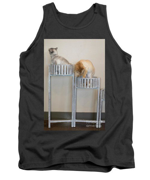 Cats In Baskets Tank Top