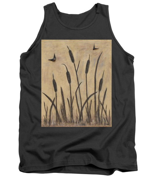Cattails 2 Tank Top by Trish Toro