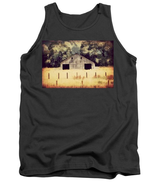 Tank Top featuring the photograph Hwy 3 Barn by Julie Hamilton