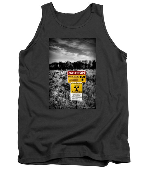 Tank Top featuring the photograph Caution by Michaela Preston