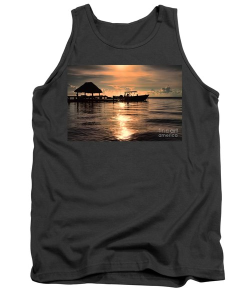 Caye Caulker At Sunset Tank Top by Lawrence Burry