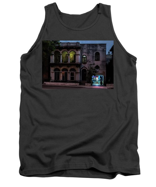 Tank Top featuring the photograph Cell Phone Shop Havana Cuba by Charles Harden
