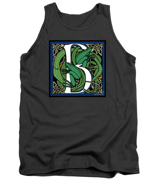 Celt Frogs Letter B Tank Top by Donna Huntriss