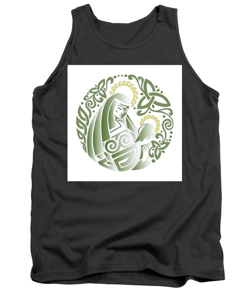 Celtic Green Madonna Tank Top