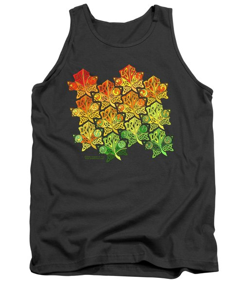 Tank Top featuring the mixed media Celtic Leaf Transformation by Kristen Fox