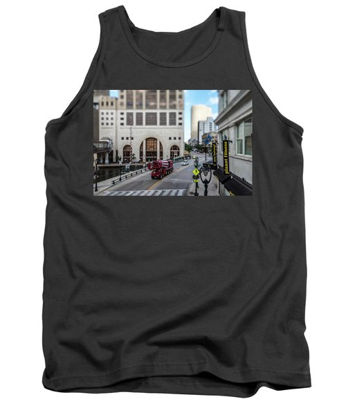 Cement Truck In The Itty-bitty-city Tank Top