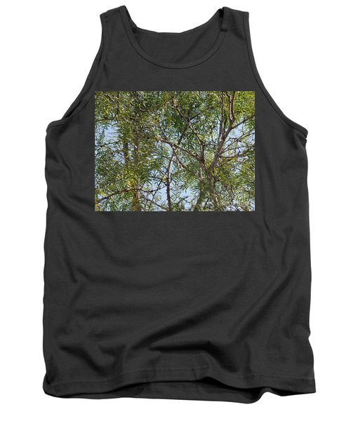 Tank Top featuring the photograph Central Texas Sky View Through Mesquite Trees by Ray Shrewsberry