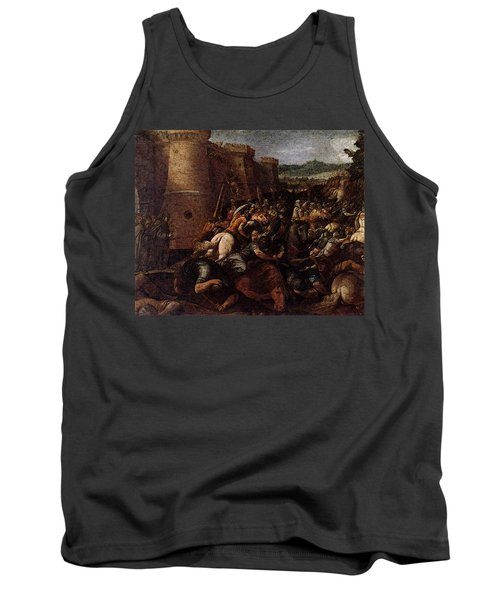 Cesari Giuseppe St Clare With The Scene Of The Siege Of Assisi Tank Top