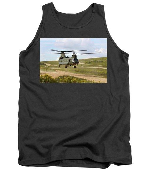 Ch47 Chinook In The Dust Bowl Tank Top by Ken Brannen