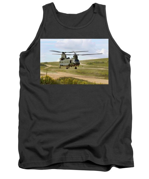Ch47 Chinook In The Dust Bowl Tank Top