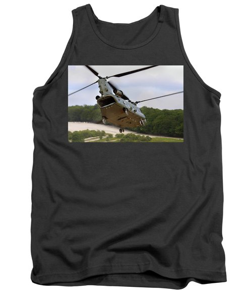 Ch47 Chinook On Manoeuvres Tank Top by Ken Brannen
