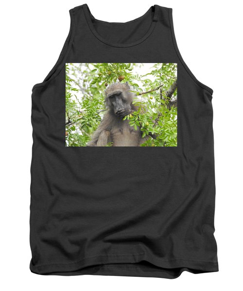 Chacma Baboon Tank Top by Betty-Anne McDonald