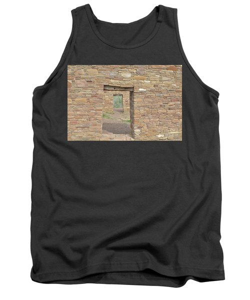 Tank Top featuring the photograph Chaco Canyon Doors by Debby Pueschel