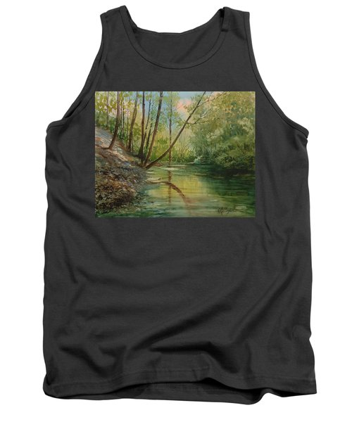 Chagrin River In Spring Tank Top