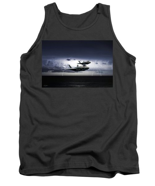 Tank Top featuring the digital art Chain Lightning by Peter Chilelli