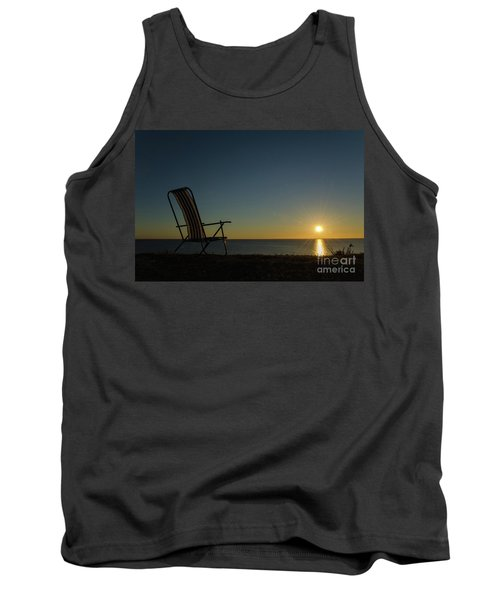 Tank Top featuring the photograph Chair By The Setting Sun by Kennerth and Birgitta Kullman