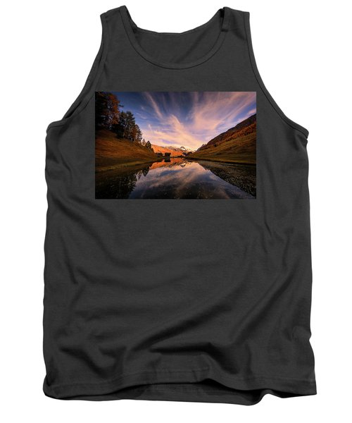 Chalet With An Autumn View Tank Top