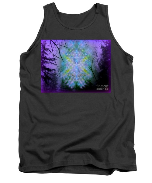 Tank Top featuring the digital art Chalice-tree Spirit In The Forest V1a by Christopher Pringer