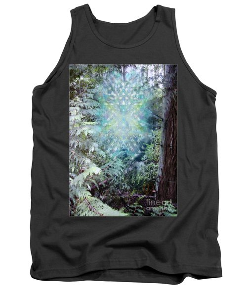 Tank Top featuring the digital art Chalice-tree Spirit In The Forest V3 by Christopher Pringer