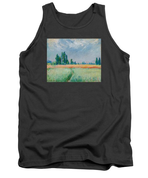 Tank Top featuring the painting Champ De Ble by Claude Monet