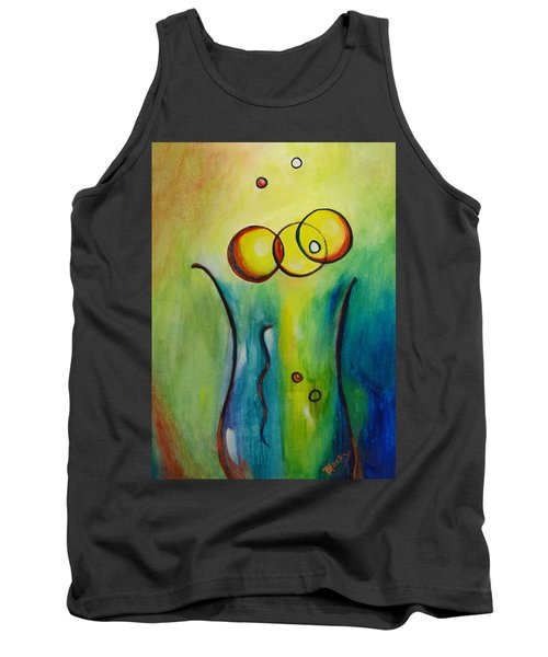 Champagne Tank Top by Donna Blackhall