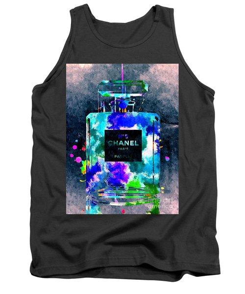 Chanel No 5 Dark Grunge Tank Top by Daniel Janda