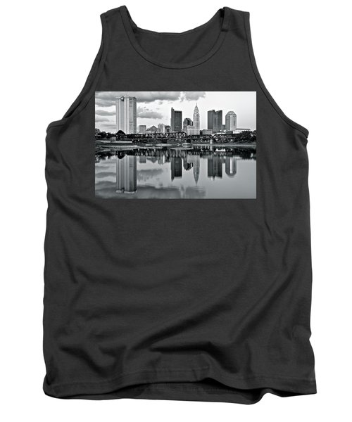 Charcoal Columbus Mirror Image Tank Top by Frozen in Time Fine Art Photography