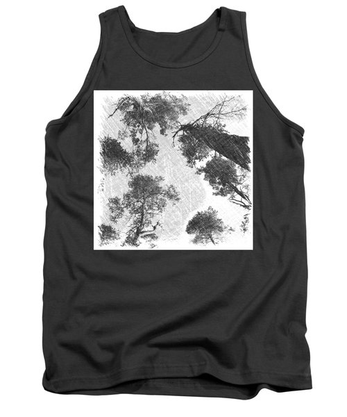 Charcoal Trees Tank Top