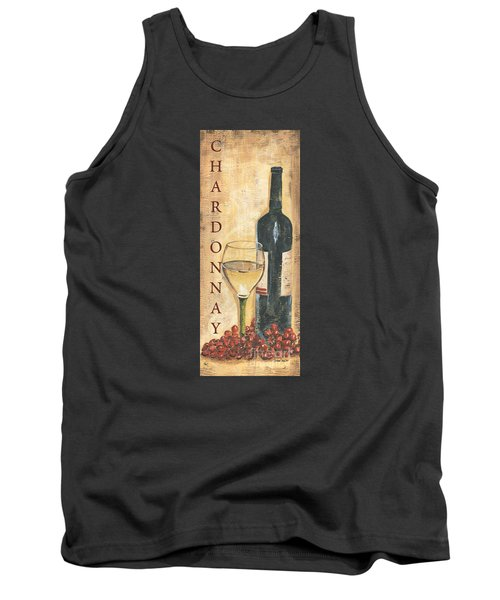 Chardonnay Wine And Grapes Tank Top