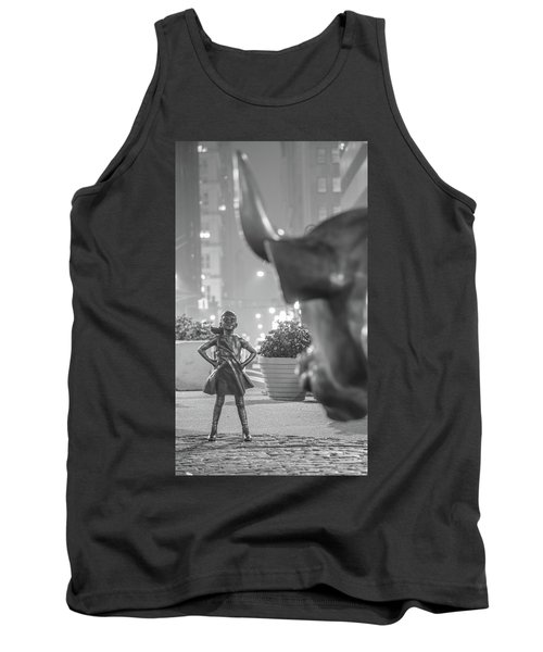 Charging Bull And Fearless Girl Nyc  Tank Top
