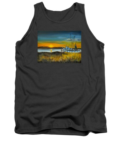 Tank Top featuring the painting Charleston Low Country by Lindsay Frost