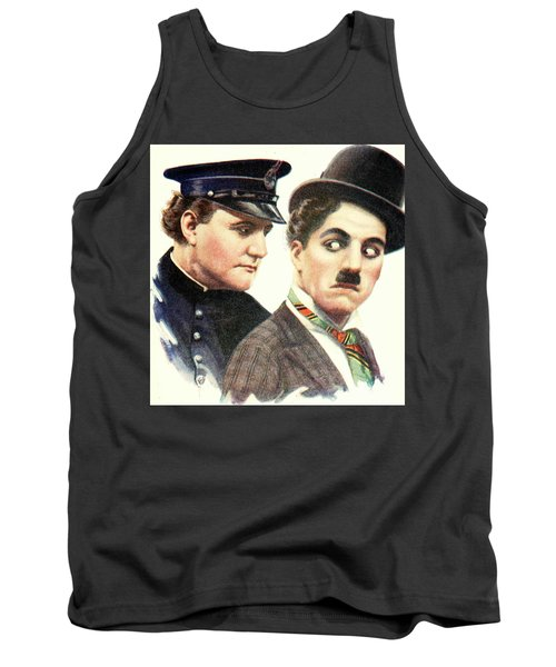 Charlie Chaplan And The Keystone Cop Tank Top
