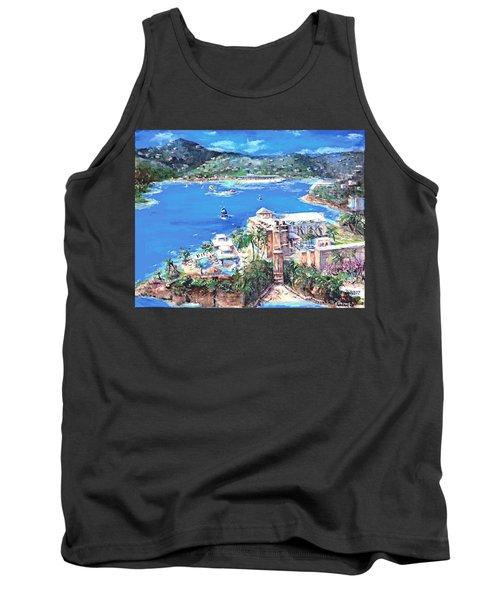 Charlotte Amalie Marriott Frenchmans Beach Resort St. Thomas Us Virgin Island Aerial Tank Top by Bernadette Krupa