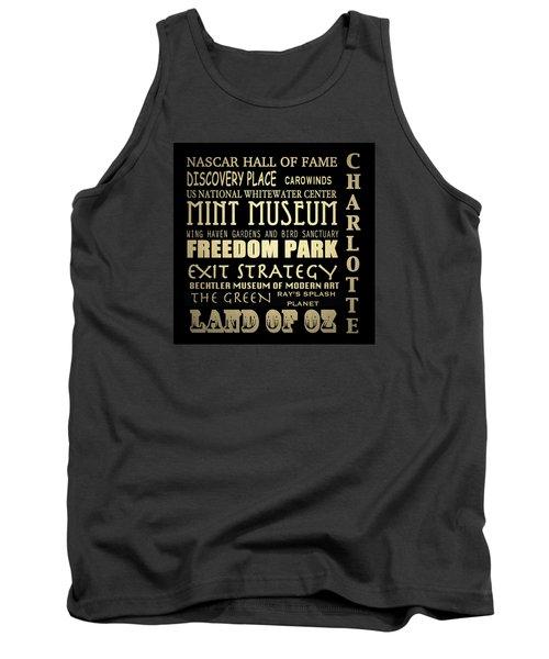 Charlotte North Carolina Famous Landmarks Tank Top