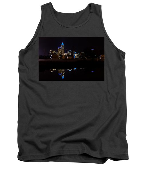 Charlotte Reflection At Night Tank Top by Serge Skiba