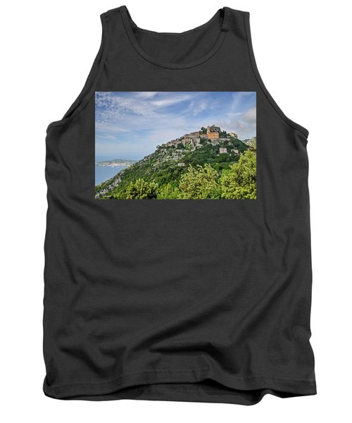 Chateau D'eze On The Road To Monaco Tank Top by Allen Sheffield