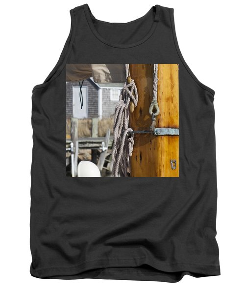 Tank Top featuring the photograph Chatham Old Salt by Charles Harden