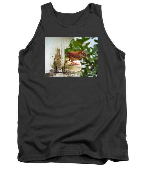 Checking Out New Digs Tank Top by Audrey Van Tassell