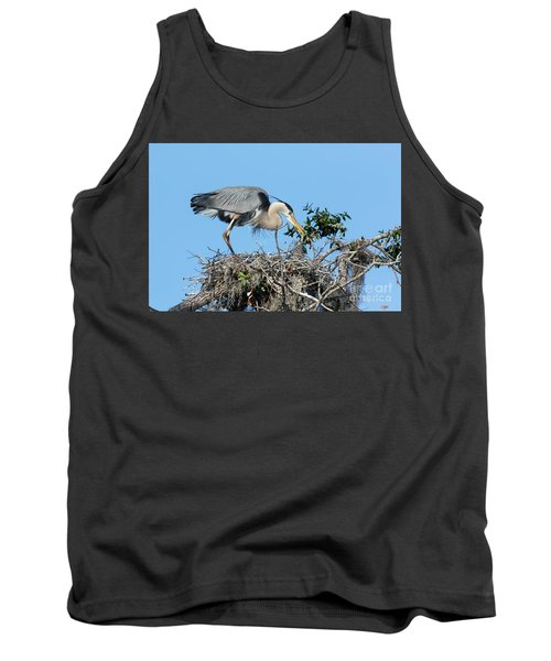 Tank Top featuring the photograph Checking The Eggs by Deborah Benoit