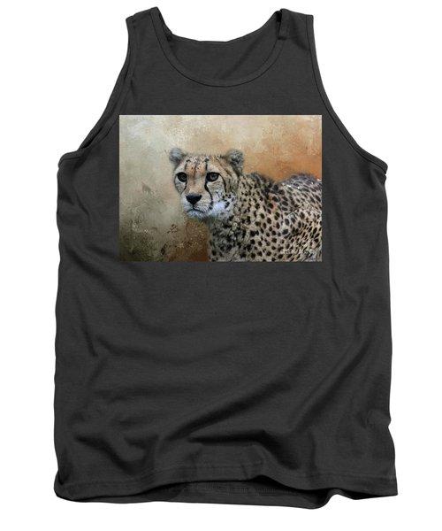 Cheetah Portrait Tank Top