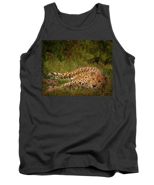 Cheetah Resting, Masai-mara Tank Top