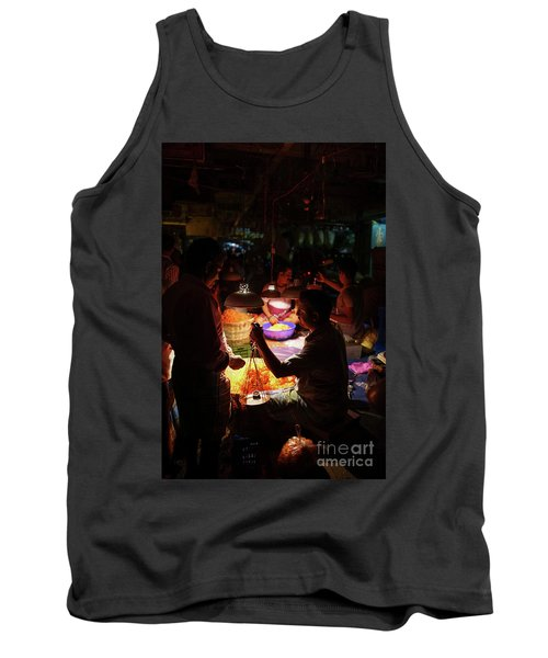 Tank Top featuring the photograph Chennai Flower Market Transaction by Mike Reid