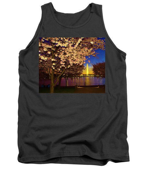 Cherry Blossom Washington Monument Tank Top