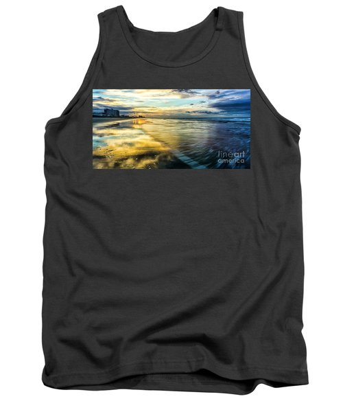 Cherry Grove Golden Shimmer Tank Top by David Smith