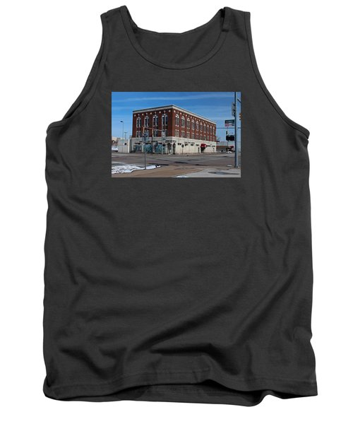 Tank Top featuring the photograph Cherry Street Mission In Winter by Michiale Schneider