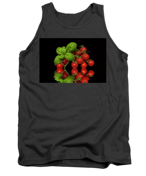 Tank Top featuring the photograph Cherry Tomatoes And Basil by David French
