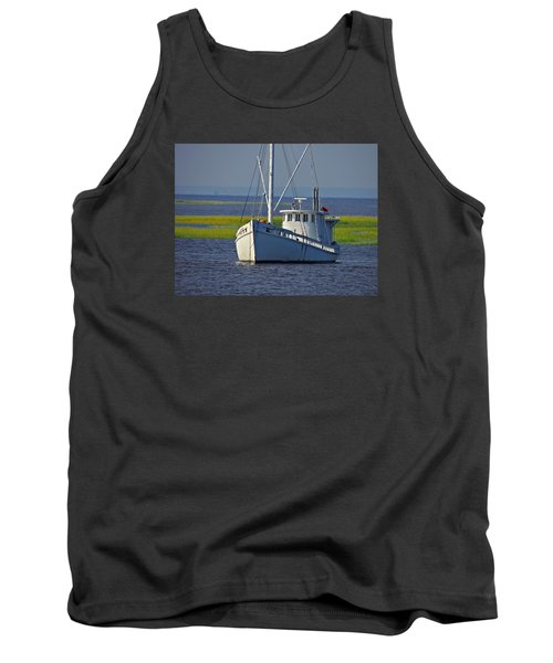 Tank Top featuring the photograph Chesapeake Buy Boat by Laura Ragland
